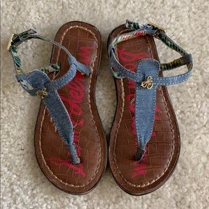 Sam Edelman kids denim thong sandal